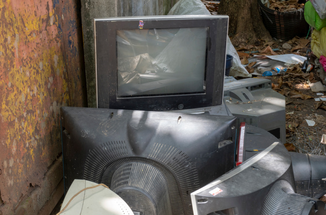Pile of old TVs